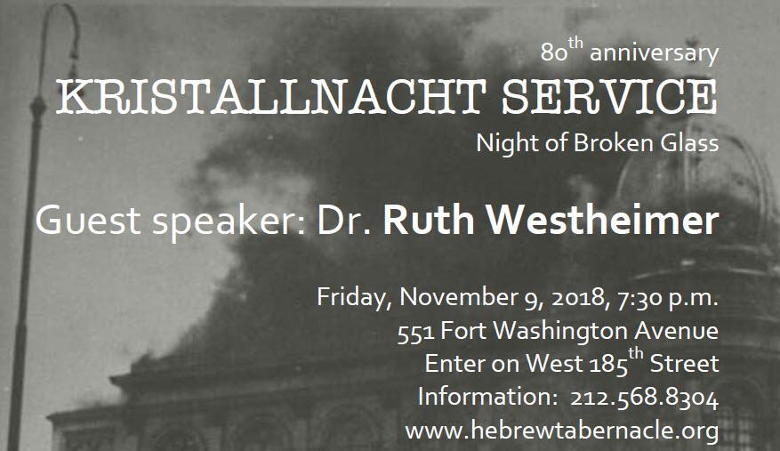 2018 11 9Kristallnacht80thanniversaryservice
